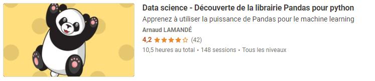 Data science - Decouverte de la librairie Pandas pour python